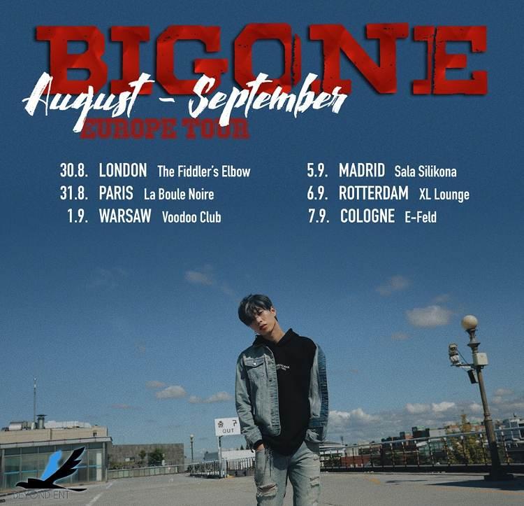 Im August und September dieses Jahres geht der südkoreanische Rapper Bigone auf Europa-Tour. Der Veranstalter Beyond ENT holt das ehemalige 24K-Mitglied für sechs Konzerte nach Europa und Deutschland.