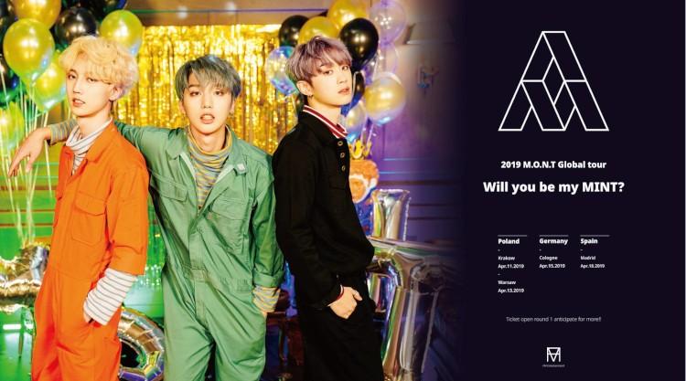 Das südkoreanische Trio M.O.N.T (bekannt aus der TV-Show MIXNINE) kommt mit ihrer 2019 M.O.N.T Global Tour Will you be my MINT? im April 2019 nach Europa und Deutschland >> Otaji | Magazin für #JPop #JRock #KPop #KRock #Mandopop und asiatische Musik