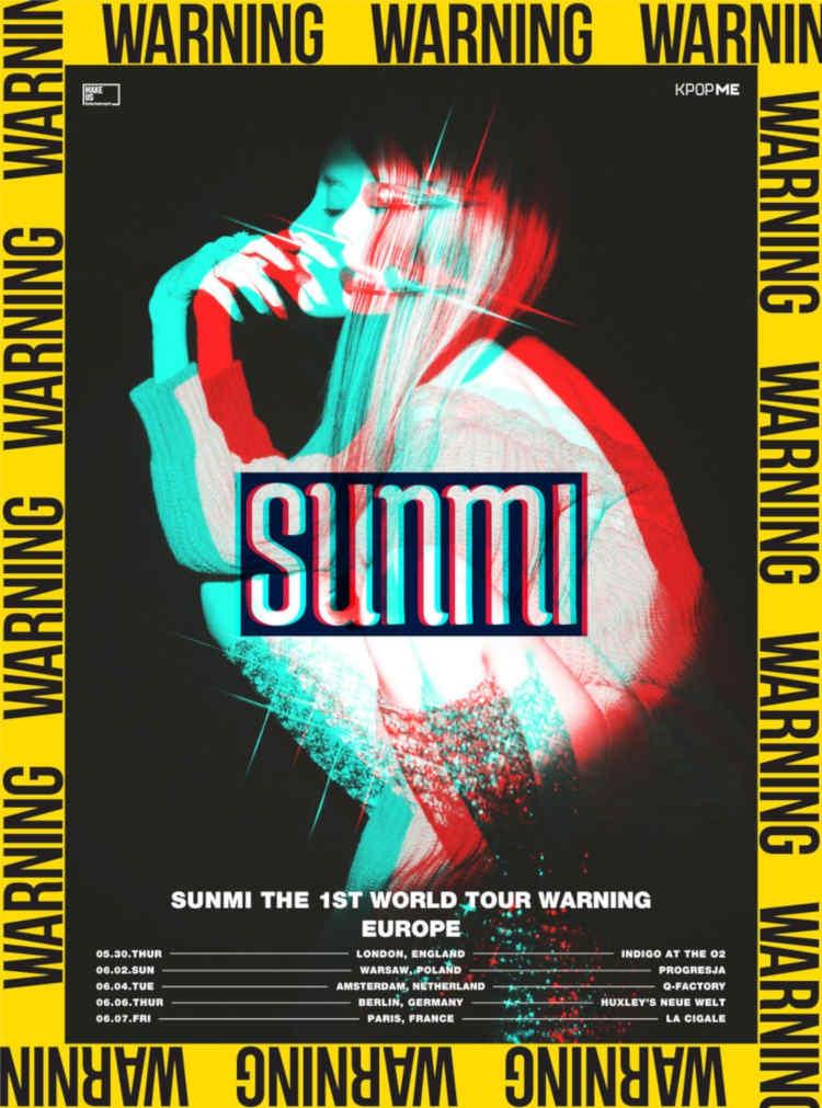 Sunmi (''Heroine'', ''Noir'') kommt mit ihrer 2019 SUNMI THE 1ST WORLD TOUR WARNING IN EUROPE im Mai/Juni 2019 nach Europa und Deutschland (Berlin). Tickets gibt es ab 03.05.2019 >> Otaji | #KPop #JPop #KRock #JRock #Mandopop und asiatische Musik