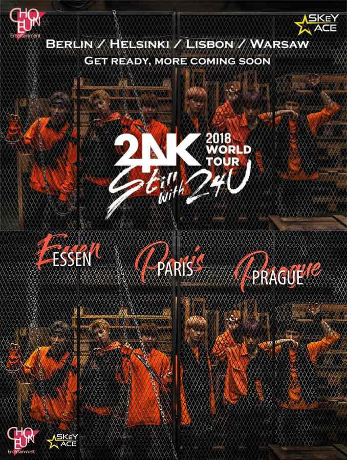 24K 'Still with 24U' 2018 World Tour in Europa und Deutschland