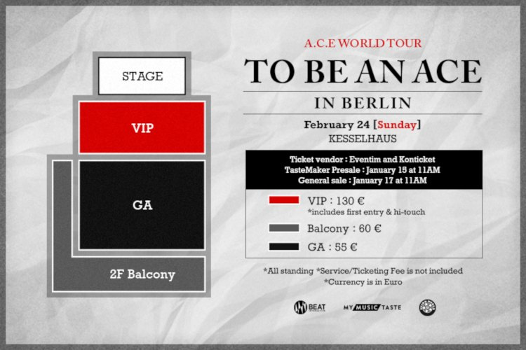 Die südkoreansiche Boygroup A.C.E ('Cactus'') kommt im Rahmen ihrer Welttour A.C.E WORLD TOUR [TO BE AN ACE] IN EUROPE nach Europa und wird eins der neun Konzerte in der deutschen Hauptstadt Berlin präsentieren >> Otaji | #KPop #KRock und asiatische Musik