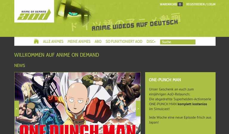 Artikel Bild - 'One-Punch Man' kostenlos bei Anime on Demand