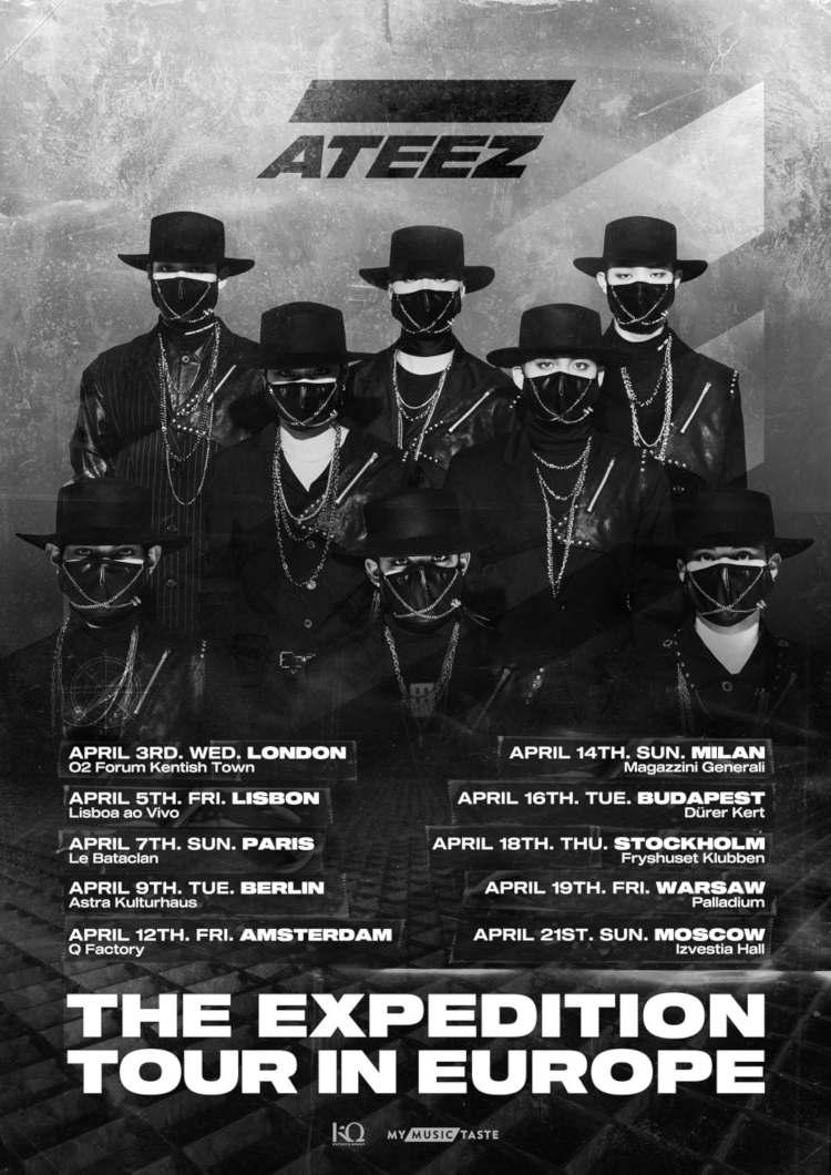 Die im vergangenen Jahr debütierte Boygroup ATEEZ ('Say My Name') geht im April 2019 mit ihrer ''ATEEZ - The Expedition Tour in Europe'' nach Europa und beehrt auch die deutschen Fans in der Hauptstadt Berlin >> Otaji | #JPop #JRock #KPop #KRock #Mandopop