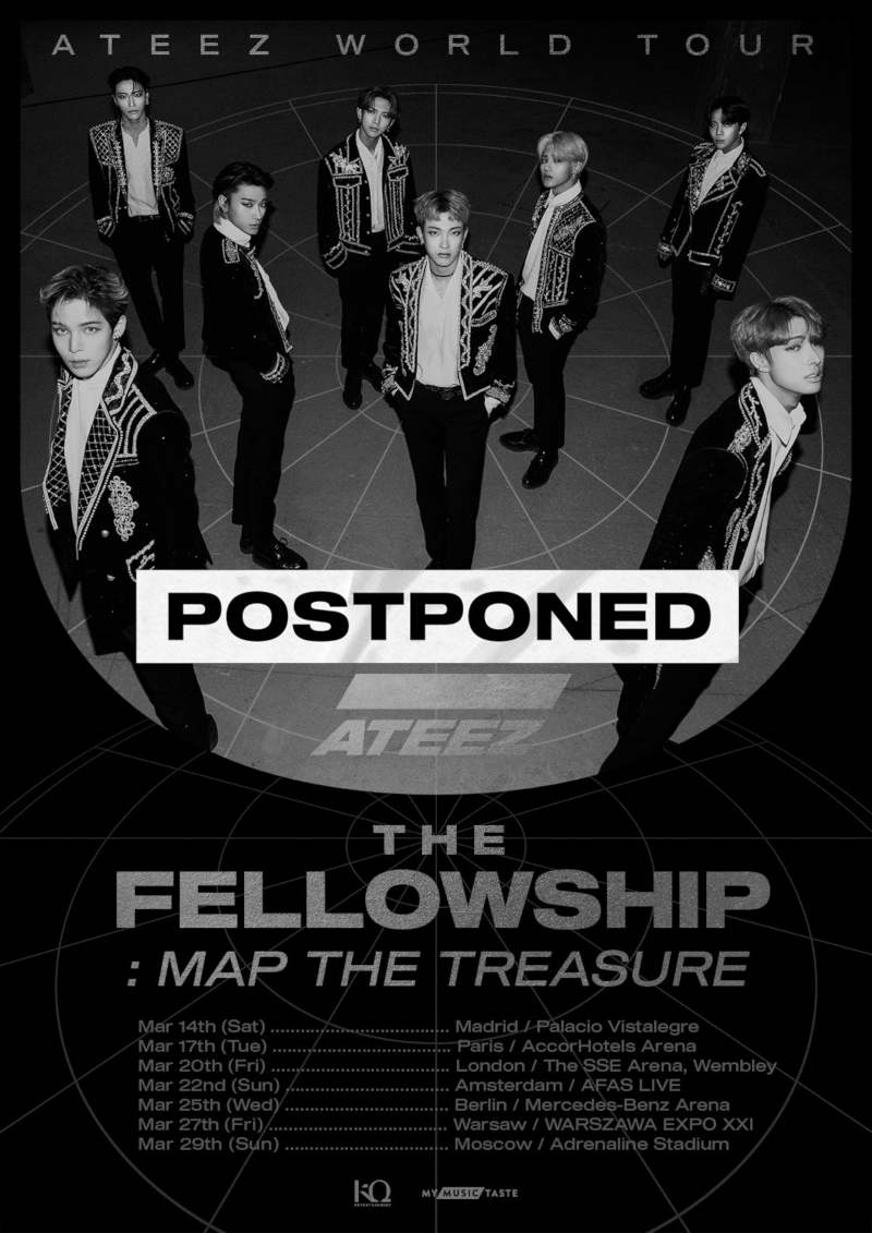 Fans von ATEEZ (''Utopia'', ''Answer'', ''Say My Name'') aufgepasst: Die ATEEZ WORLD TOUR The Fellowship: Map The Treasure in Europe wird aufgrund des Coronavirus verschoben >> OTAJI | #KPop #ATEEZ #KQ #KQEntertainment #MMT #MyMusicTaste #postponed