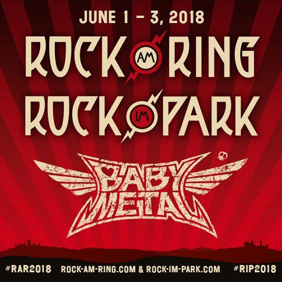 BABYMETAL treten 2018 im Rahmen der deutschen Rock-Festivals Rock am Ring und Rock im Park auf.