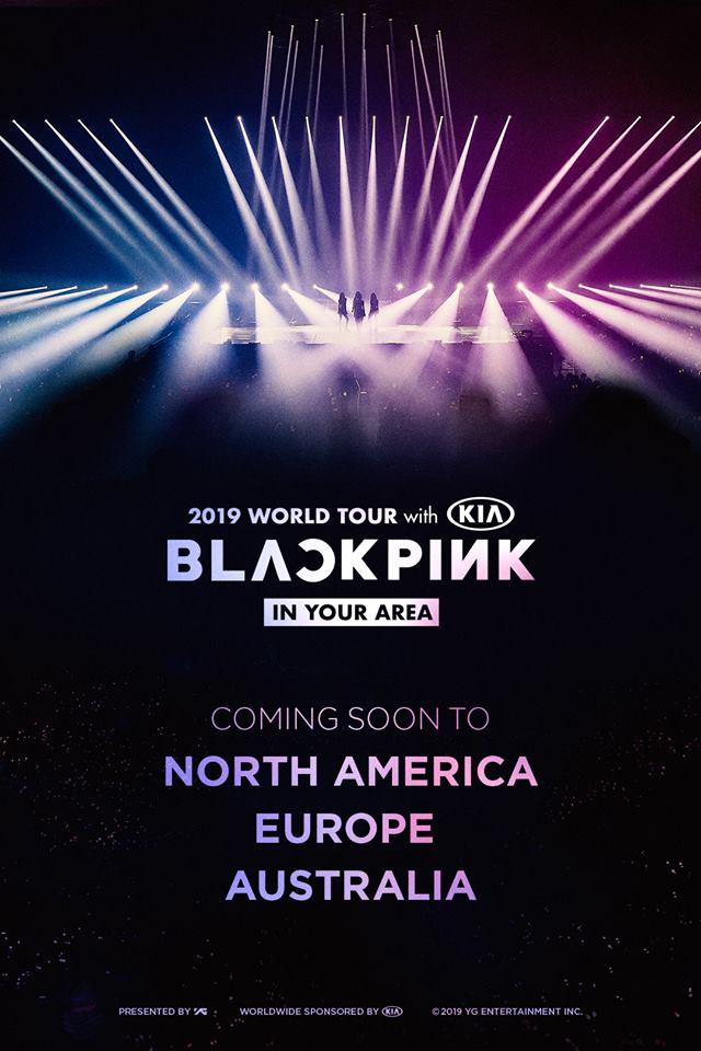 Die südkoreanische Girlgroup BLACKPINK (Playing with Fire) bereist mit ihrerBLACKPINK 2019 WORLD TOUR [IN YOUR AREA] Nordamerika, Australien, Europa und kommt nach Berlin, Deutschland +++ Otaji | KPop, KRock, JPop, JRock, Mandopop und asiatische Musik