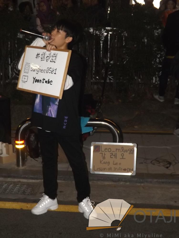 Busking in Hongdae mit Otaji: Sanghee