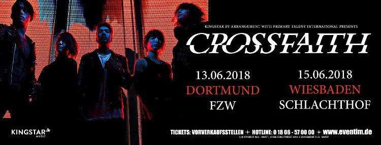 Crossfaith kommen für zwei Sommer-Shows nach Deutschland.
