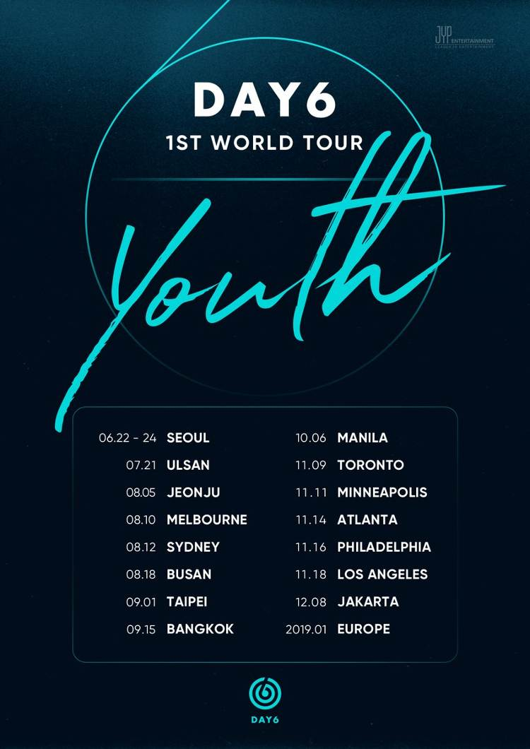 DAY6 1ST WORLD TOUR 'Youth' 2019 in Europa