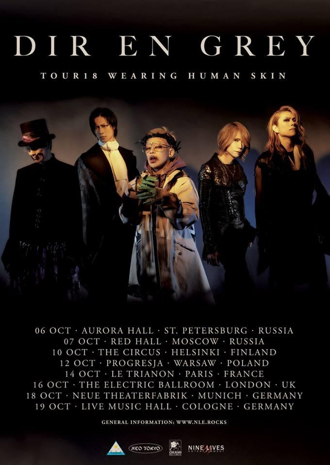 DIR EN GREY - TOUR18 - WEARING HUMAN SKIN in München und Köln.