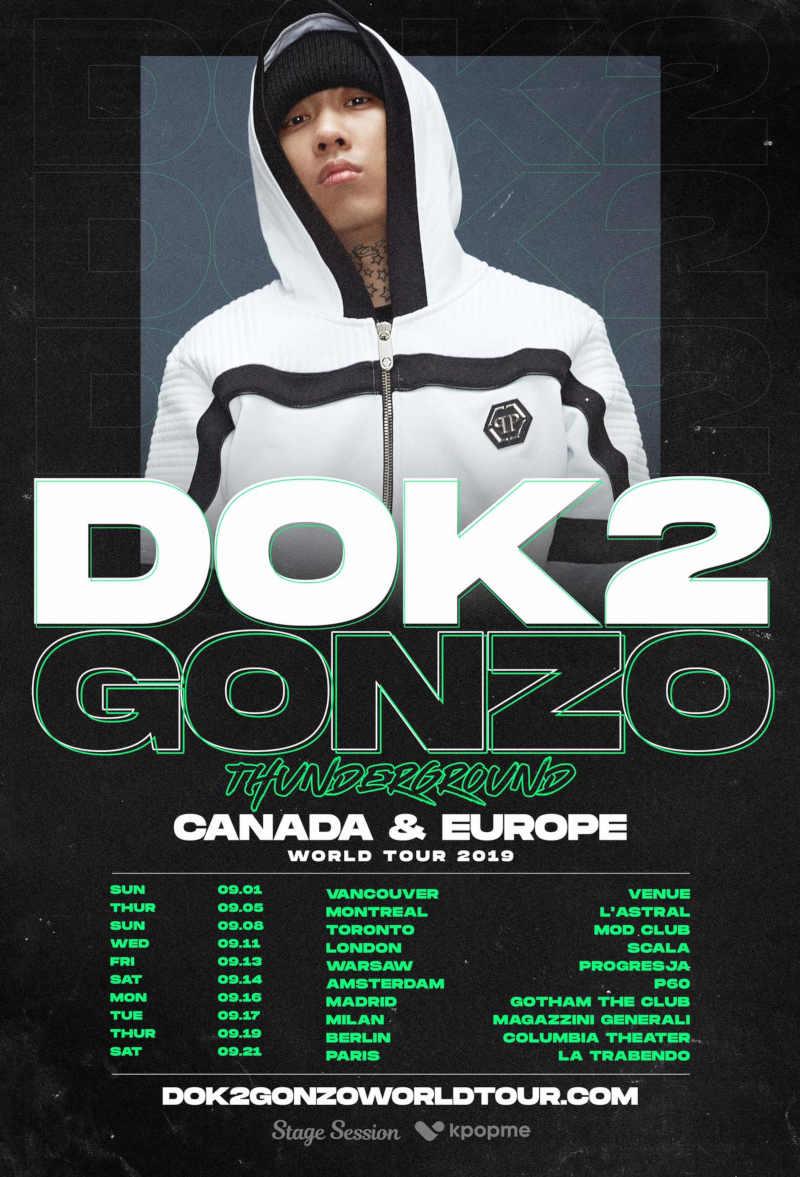 DOK2 (''Beverly 1lls'') kommt mit seiner ''DOK2GONZO THUNDERGROUND WORLD TOUR 2019: CANADA & EUROPE'' nach Europa und spielt am 19.09.2019 im Columbia Theater in Berlin. Tickets ab sofort erhältlich! >> Otaji | #KPop #DOK2 #KPOPME #StageSession #Berlin