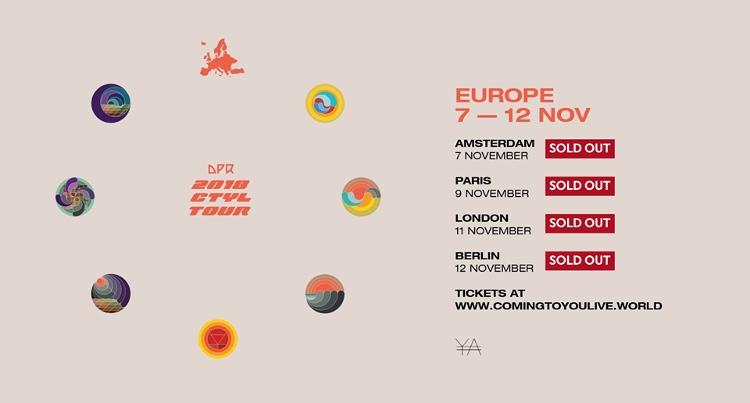 Im November 2018 kommt die südkoreanische DPR Crew mit ihrer ersten Welttour nach Europa.DerVeranstalter Cult of Ya und die Gruppe dürfen sich freuen, denn alle vier Europa-Konzerte inklusive Deutschland sind ausverkauft.