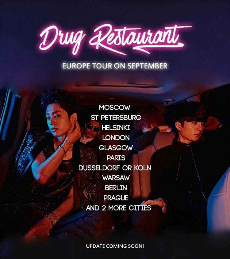 Drug Restaurant ist eine südkoreanische Rock-Band, die im September 2017 auf Europa-Tour geht.