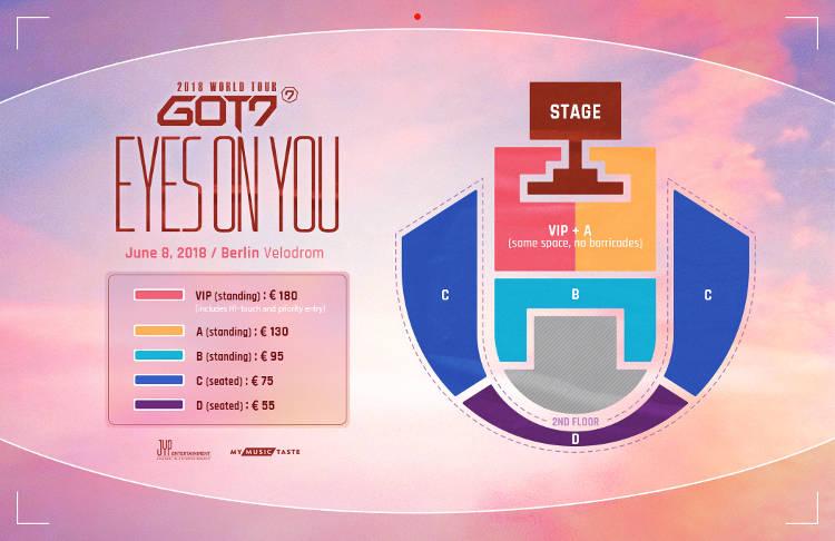 """GOT7 2018 WORLD TOUR ""EYES ON YOU"""" am 08. Juni 2018 in Berlin."