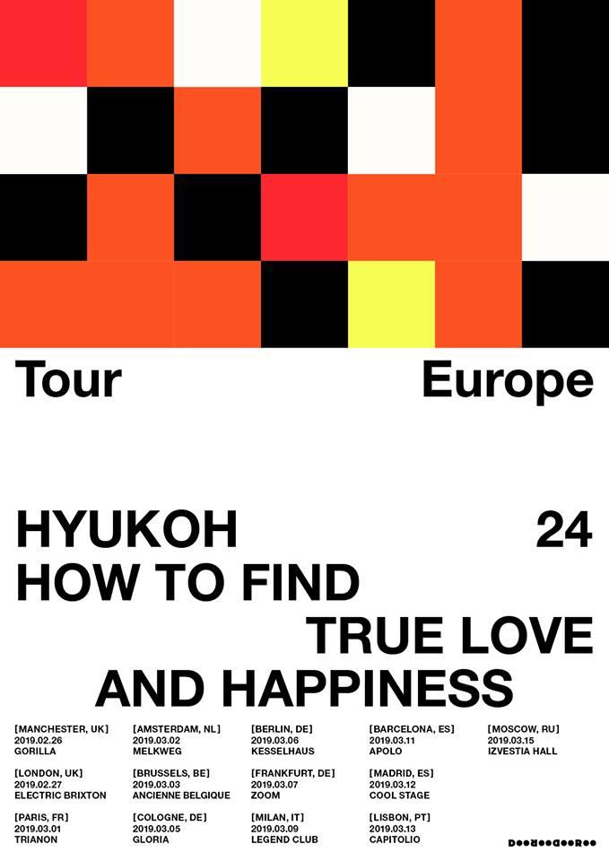 HYUKOH, diesüdkoreanischeIndie Band hat für das kommende Jahr ihre zweite Europa-Tour angekündigt. Mit ihrer HYUKOH <24> EU-Tour reisen die vier Musiker im März 2019 durch Europa und für gleich drei Konzerte durch Deutschland.