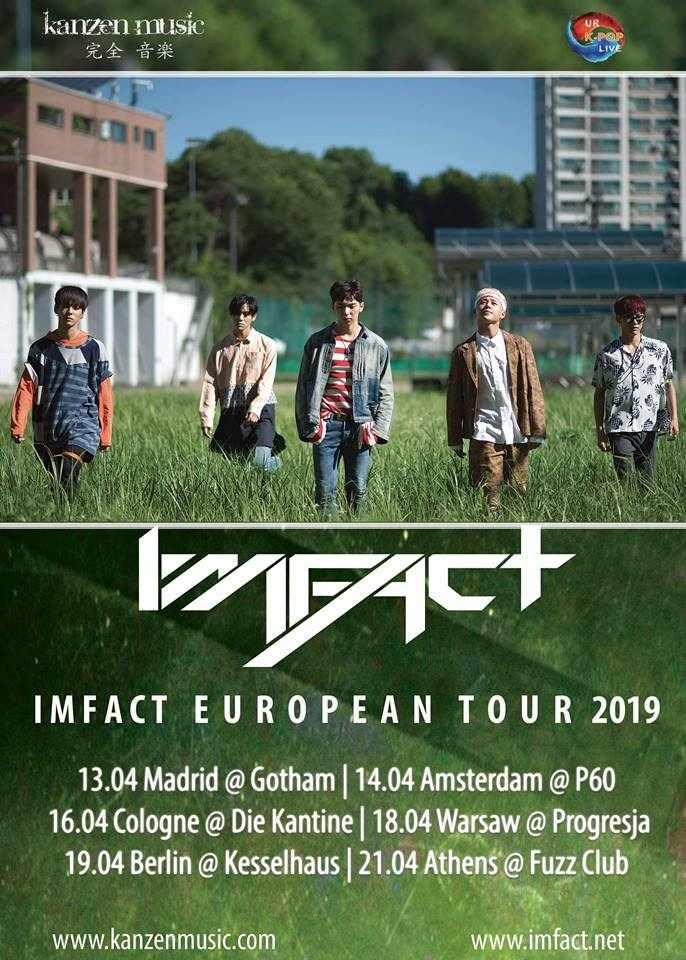 +++ EXKLUSIV +++ Kanzen Music präsentiert im April 2019 die IMFACT European Tour 2019 mit zwei Konzerten in Deutschland. IMFACT (임팩트) sind u.a. bekannt für die Lieder Lollipop und NANANA >> Otaji | #KPop #KRock #JPop #JRock #Mandopop