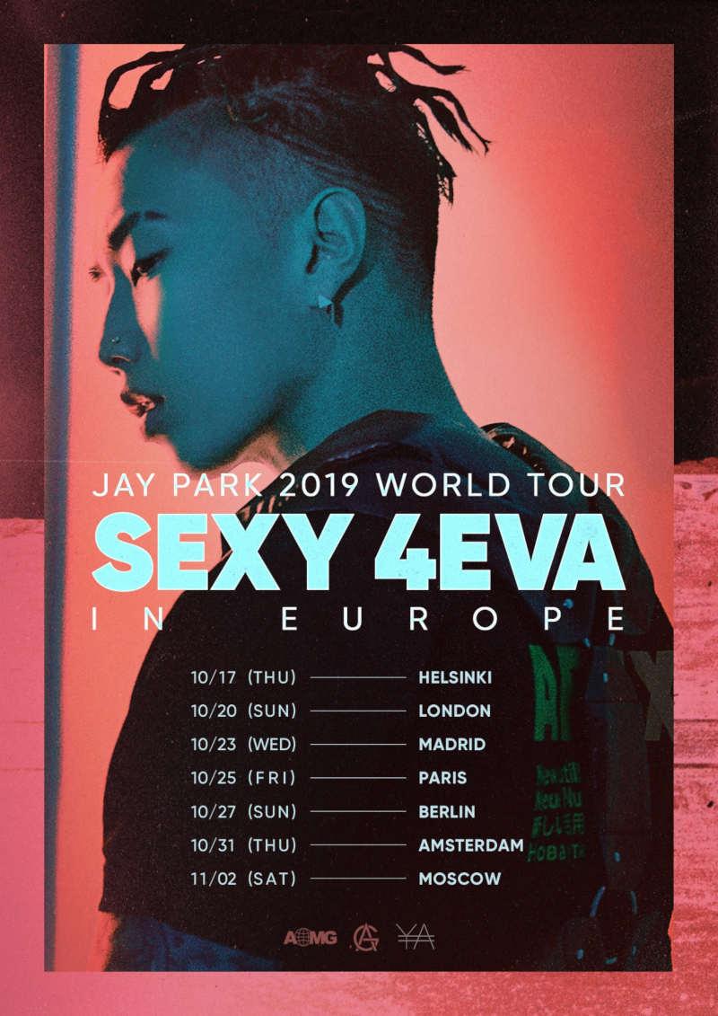Jay Park (''MOMMAE'', ''V'') kommt mit seiner ''Jay Park 2019 World Tour SEXY4EVA in Europe'' im Oktober 2019 für Konzerte nach Europa und am 27.10.2019 nach Berlin. Tickets gibt es ab 08.06.2019 >> Otaji | #KPop #KRock #KHipHop #JRock #JPop #Mandopop