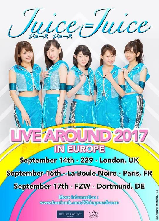 Die Girlgroup Juice=Juice geht im September 2017 erstmals auf Welttour mit Konzert in Deutschland.