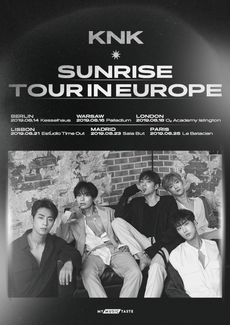 KNK (''SUNSET'', ''Lonely Night'') kommen mit ihrer ''KNK - SUNRISE TOUR IN EUROPE'' im August 2019 nach Europa. Ein Konzert findet am 14. August 2019 im Kesselhaus in Berlin statt. >> Otaji | #KPop #KNK #MyMusicTaste #WeirdWorld #Konzert #Berlin