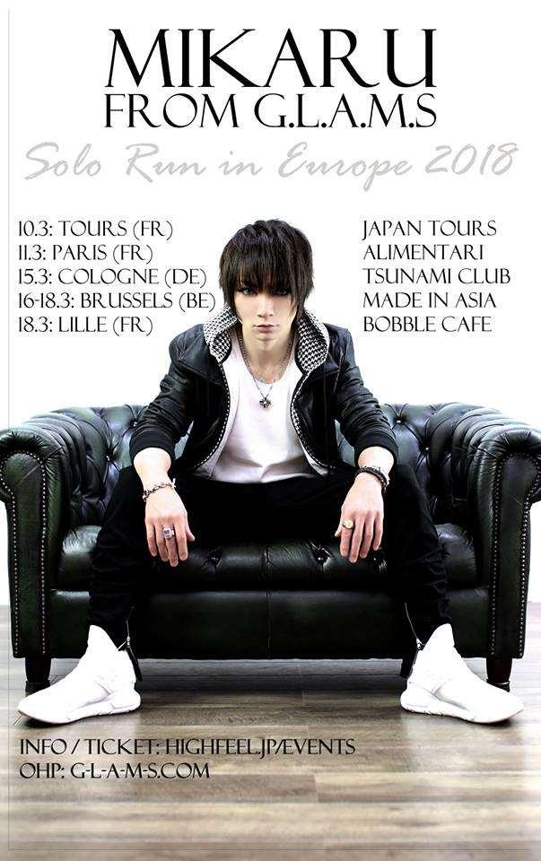 """Die Termine der """"Mikaru - Solo Run in Europe 2018""""-Tour"""