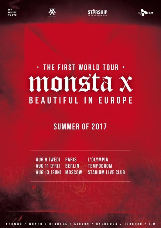 Die südkoreanische Boyband MONSTA X gehen im September 2017 auf Europa Tour mit Halt in Deutschland.