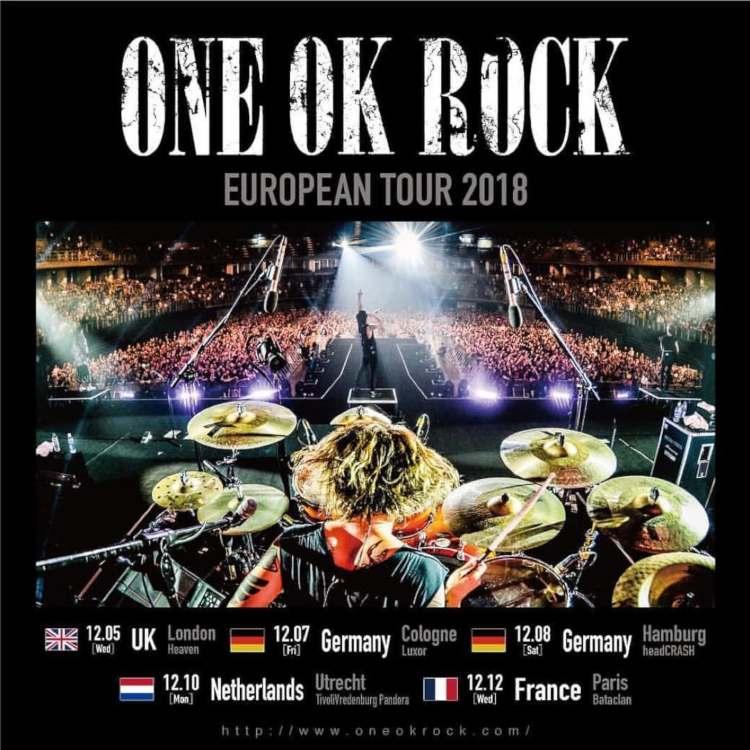 In ihrer Heimat Japan zählen sie seit Jahren zu einer der beliebtesten Rock-Bands: ONE OK ROCK. Die japanische Erfolgs-Band kommt mit ihrer ONE OK ROCK EUROPEAN TOUR 2018 im Dezember nach Europa und Deutschland >> Otaji | #Jrock und asiatische Musik