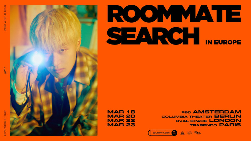 PH-1, der koreanisch-amerikanische Rapper und Hip-Hop-Künstler geht mit seiner PH-1 [Roommate Search] World Tour in Europa auf Tour. Resttickets für Berlin - 12.03.2020 - Columbia Theater >> OTAJI | #KPop #PH1 #CultofYa #Berlin #Welttour #Tour #Konzert