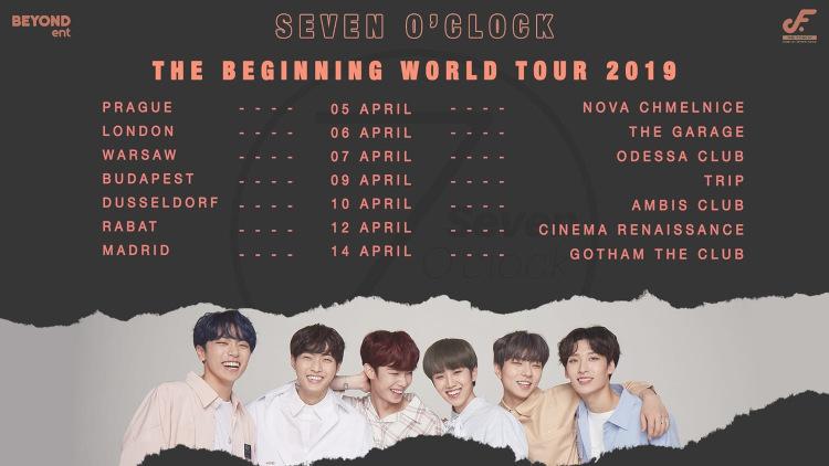 Seven O'Clock (''Get Away'') kommen zum ersten Mal nach Europa. Mit ihrerSeven O'Clock: The Beginning World Tour 2019 tritt die K-Pop Boygroup am 10.04.2019 in Deutschland (Düsseldorf) auf >> Otaji | K-Pop + K-Rock + J-Pop + J-Rock + Mandopop