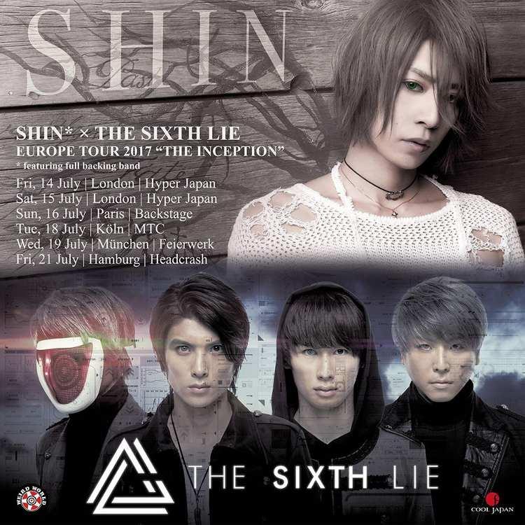 SHIN und THE SIXTH LIE gehen im Juli 2017 gemeinsam auf Europa-Tour mit Konzerten in Deutschland.