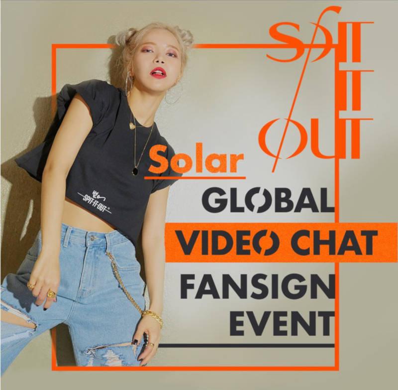 Solar, bekannt als Leader der Girlgroup MAMAMOO (''HIP'', ''gogobebe'') geht gerade steil mit ihrem aktuellen Hit ''SPIT IT OUT'' und erfreut Fans mit ihrem ''Solar Global Video Chat Fansign Event'' im Mai 2020 >> OTAJI | #KPop #RBW #MyMusicTaste #MMT