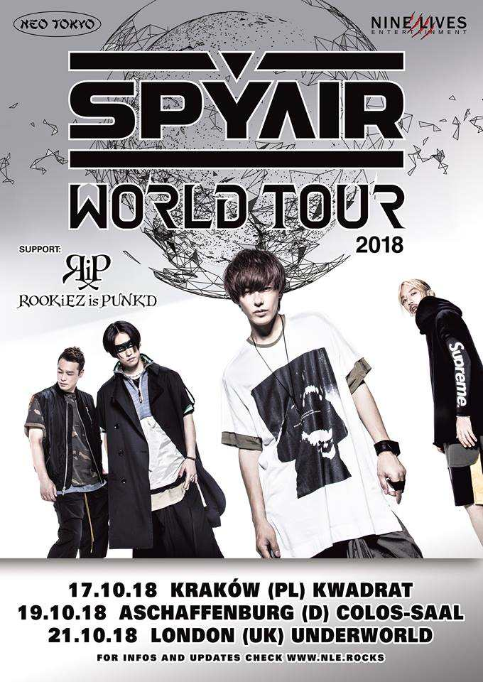 SPYAIR WORLD TOUR 2018 in Deutschland