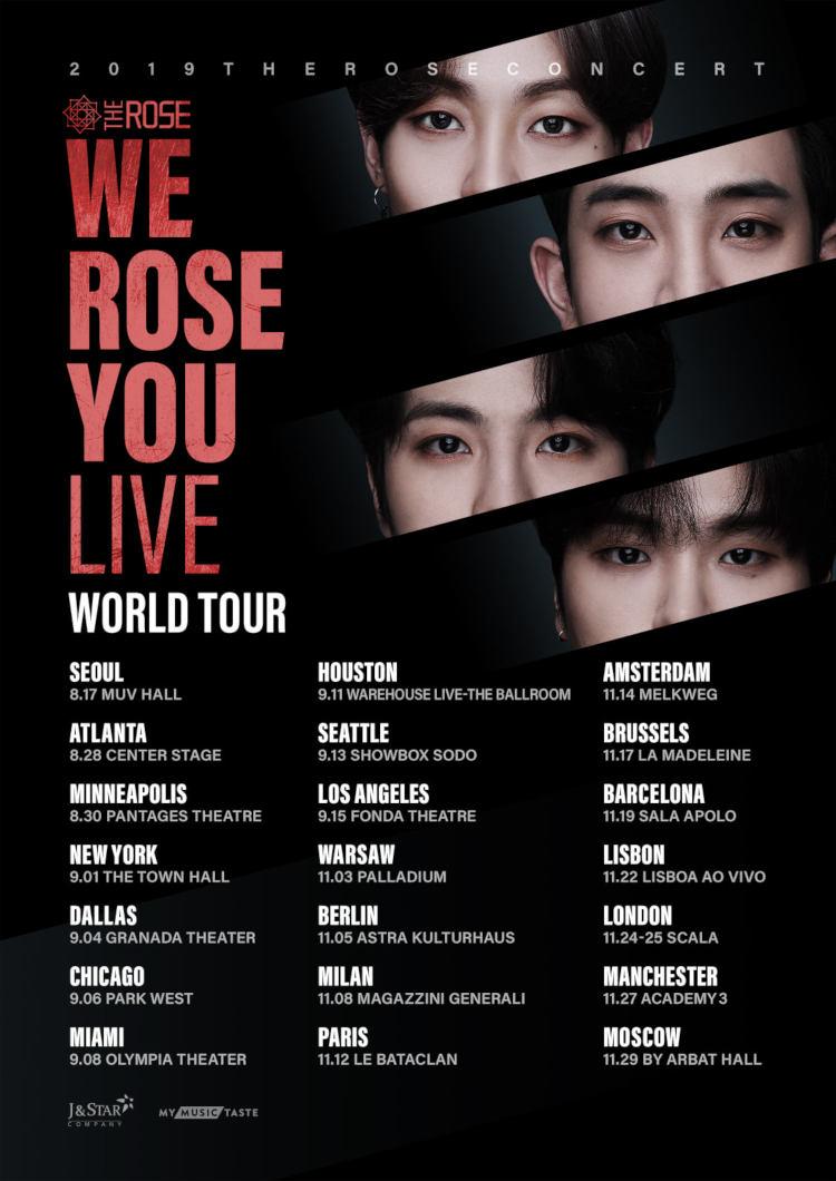 The Rose WE ROSE YOU LIVE World Tour 2019 in Berlin +++ Die erfolgreiche K-Pop-Rock Gruppe The Rose (''She's In The Rain'', ''RED'') tritt am 05. November 2019 im Astra Kulturhaus in Berlin auf >> Otaji | #KPop #KRock #MyMusicTaste #TheRose #Konzert
