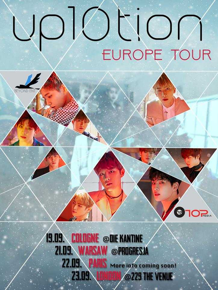 UP10TION Europe Tour 2018: Informationen zum Ticket-Vorverkauf