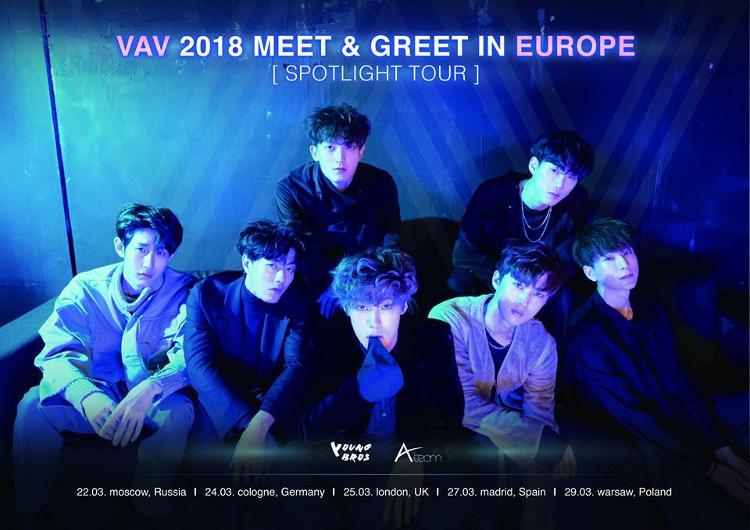 "Die Termine der ""VAV 2018 MEET & GREET IN EUROPE : SPOTLIGHT TOUR"""