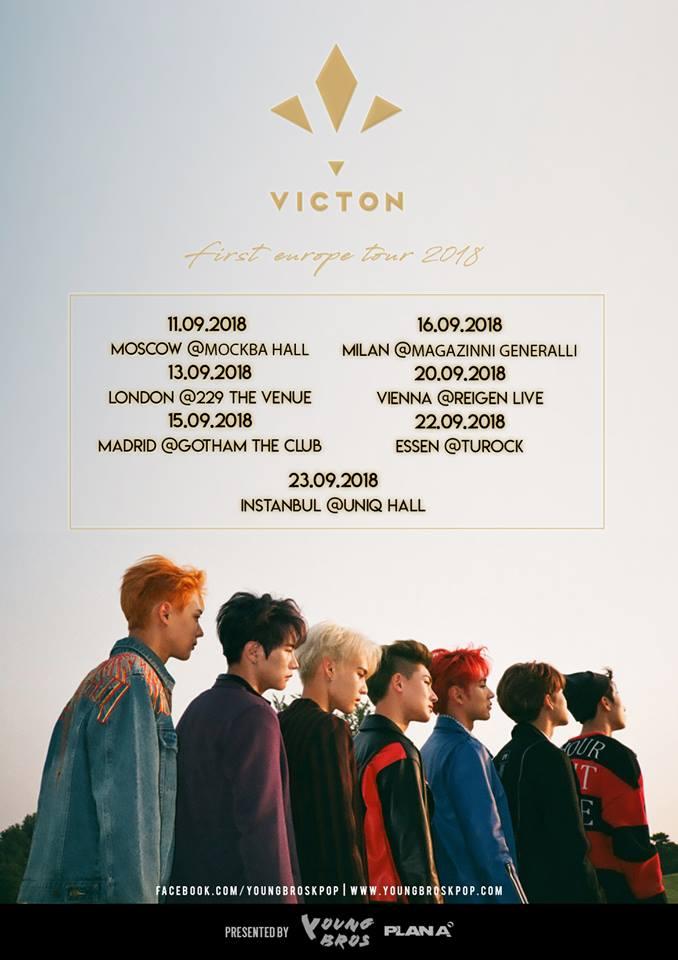 Im September dieses Jahres kommt ein weiterer Künstler nach Europa: mit VICTON und ihrer VICTON First Europe Tour 2018 reiht sich dank YOUNG BROS eine weitere Boygroup aus Südkorea in das sehr stark gefüllte Programm in Europa und Deutschland ein.