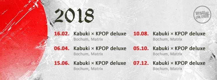 Die Kabuki RockStyle und KPOP deluxe finden 2018 ganze sechs mal statt.